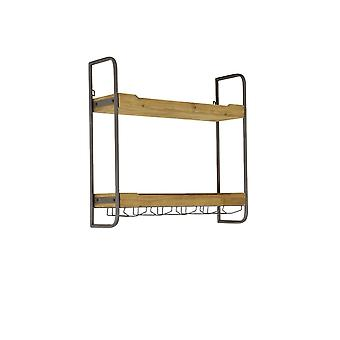 Light & Living Wall Rack 2 Layers 73x20x69 Cm SUCRE Wood