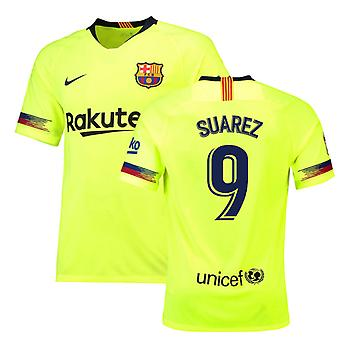 2018-19 Barcelona Away Shirt (Suarez 9)