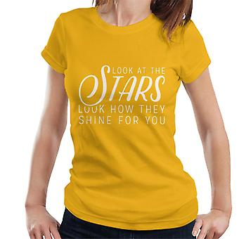 Coldplay Yellow Lyrics Women's T-Shirt