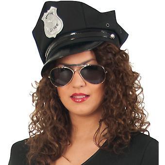 Police Hat Cap 58 cm police black