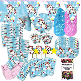 Unicorn Rainbow party set XL 70-teilig for 8 guests Unicorn decorations birthday party package