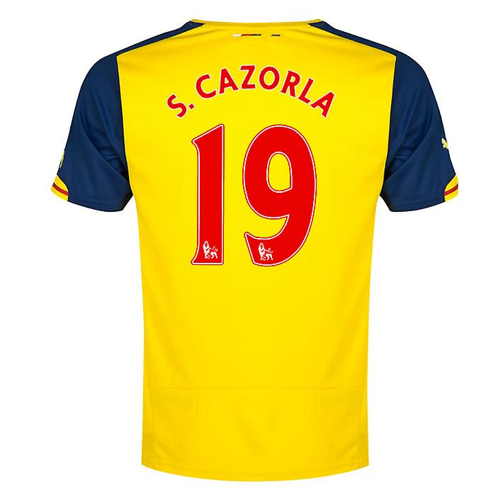 2014-15 Arsenal Away Shirt (S.Cazorla 19) - Kids