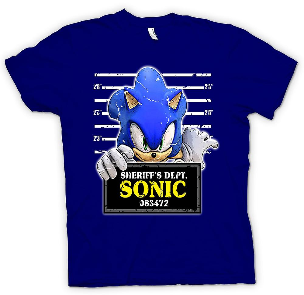 Mens T-shirt - Sonic The Hedgehog - Mug Shot