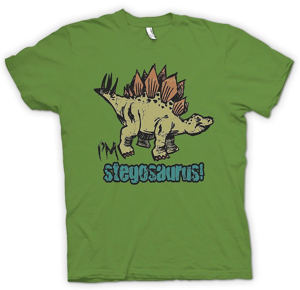 Mens T-shirt - Im Stegosaurus - Cool Dinosaur