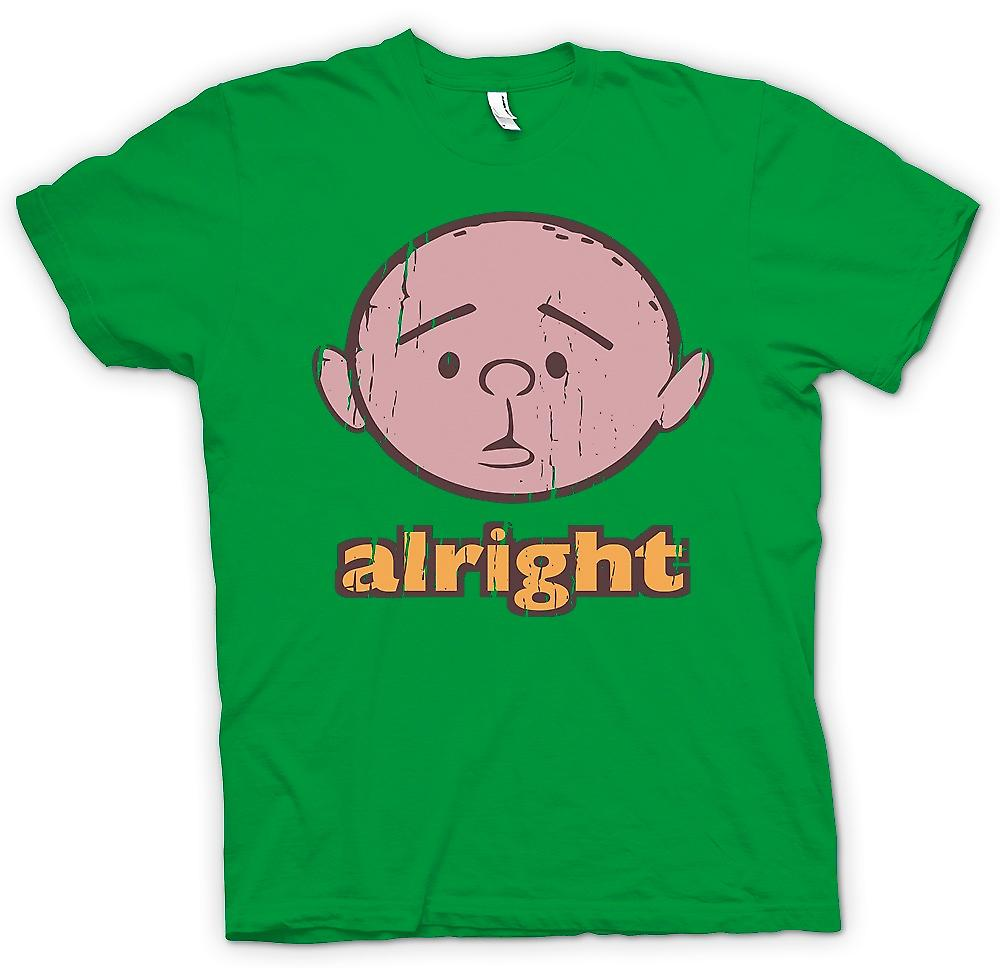 Mens T-shirt - Alright - Karl Pilkington - philosophe Genius