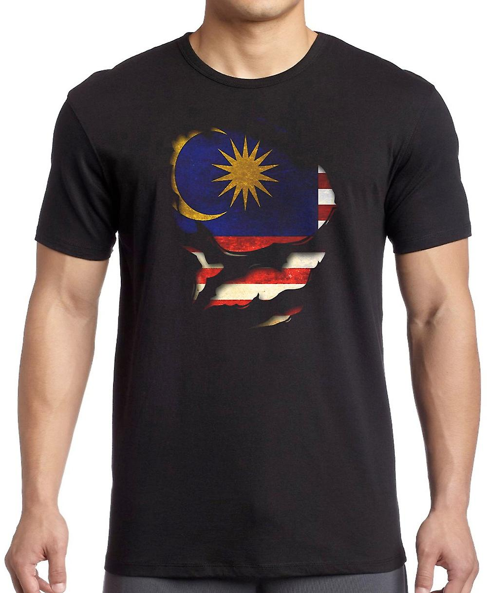 Malaysia Ripped Effect Under Shirt Kids T Shirt
