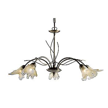 Searchlight 4495-5AB Lily 5 Light Ceiling Pendant