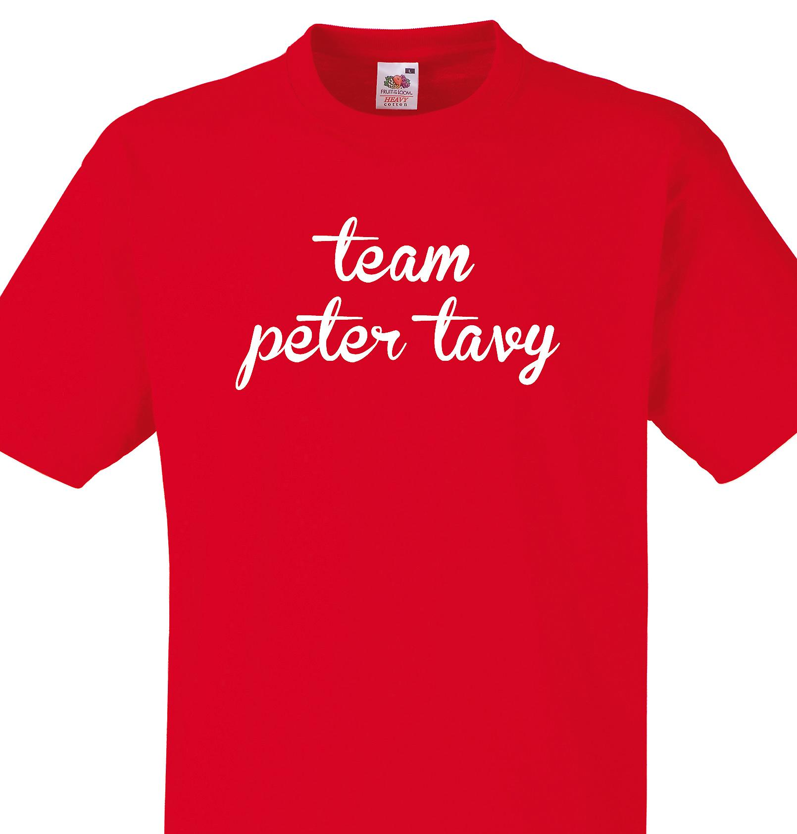 Team Peter tavy Red T shirt