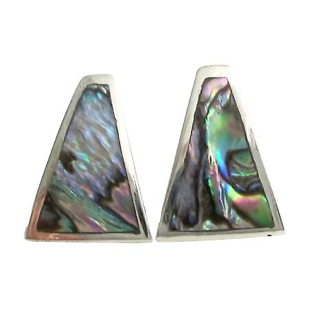 Sterling Silver Abalone Inlay Sterling Silver Elegant Gift Earrings