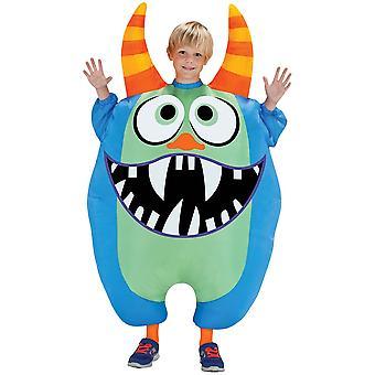 Blå uppblåsbar Scareblown barn kostym