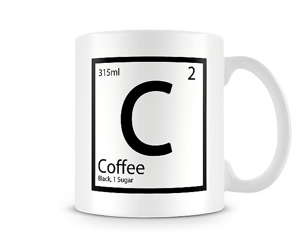 Element C - Coffee Black 1 Sugar Mug
