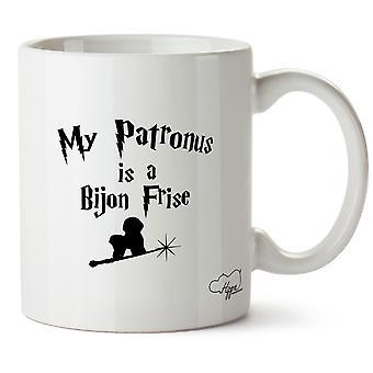 Hippowarehouse mein Patronus ist ein Bijon Frise gedruckt Mug Tasse Keramik 10oz