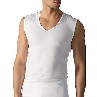 Mey 49137-101 Men's Casual Cotton White Solid Colour Tank Vest Top