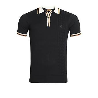 Gabicci 3 Button Mens Polo Shirt   Navy