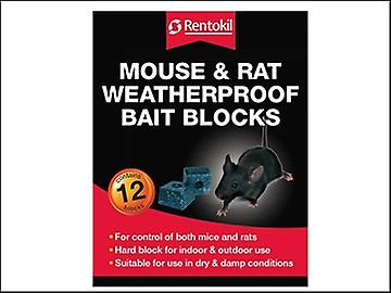 Rentokil Mouse & Rat Weatherproof Bait Blocks (12)