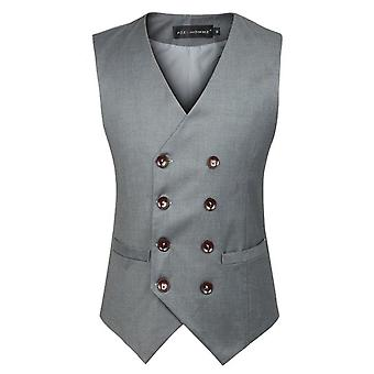 Allthemen mannen katoen Vest Slim Fit Business Casual Suit Vest