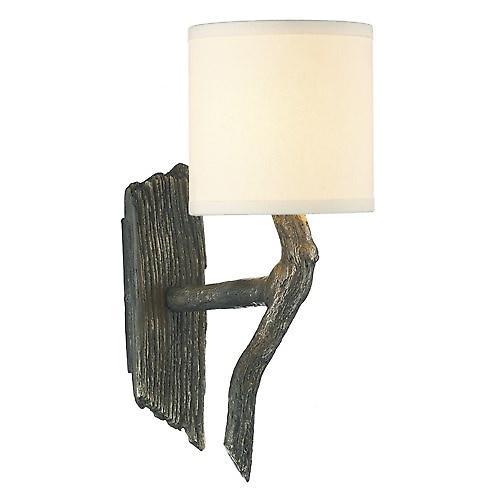 David Hunt JOS0763 Joshua Single Wall Light In A Bronze Finish With S045 Shade