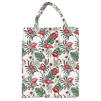 Flamingo eco foldable shopping bag by signare tapestry / eco-flam