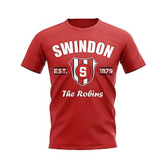 Swindon Established Football T-Shirt (Red)