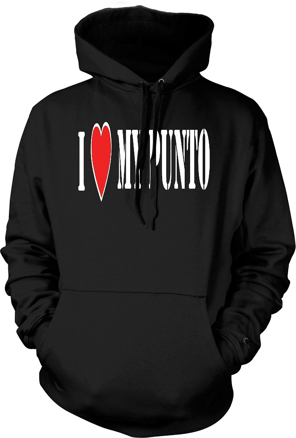 Mens Hoodie - I LoveMy Punto - Fun - Fiat Car