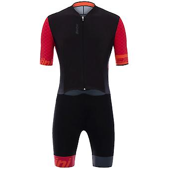 Santini Red 2018 Redux Skin C3 Short Sleeved Cycling Suit