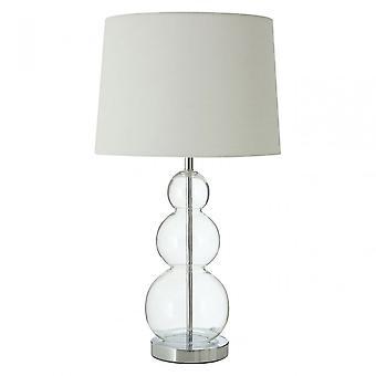 Premier Home Luke tafel lamp met EU stekker, stof, glas