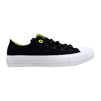 Converse Chuck Taylor II 2 OX Black/Volt  Men's 153541C Size 4 Medium