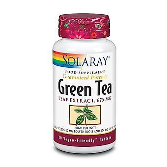 Solaray Green Tea 675mg Tablets 30 (1051)