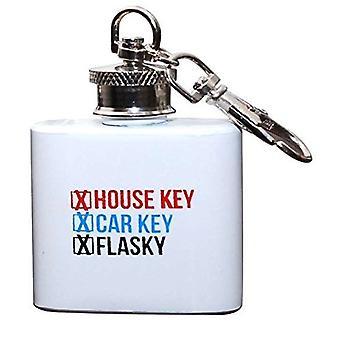Key Chain - White Mini Flask New flk-bsp-flasky