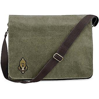SRR Special Reconnaissance Regiment - Licensed British Army Embroidered Vintage Canvas Despatch Messenger Bag