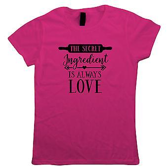 Den hemmelige ingrediens er altid kærlighed dame T-shirt | Signatur creme Pat Hollywood handshake vinder | Star Baker bake off Soggy Technical Showprop | Bagning gave hendes mor