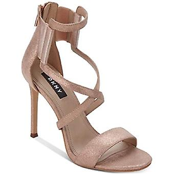DKNY Womens Lil Multi Leather Open Toe Special Occasion Strappy Sandals