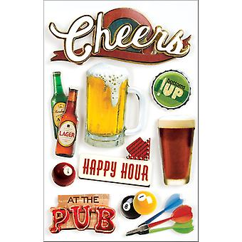 Beer 3 D Stickers Cheers Stdm0003