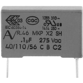 MKP suppression capacitor Radial lead 2.2 µF 275 V 20 % 27.5 mm (L x W x H) 32 x 14 x 28 Kemet R46KR422000M1M+ 1 pc(s)