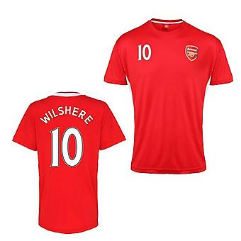 Official Arsenal Training T-Shirt (Red) (Wilshere 10)