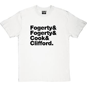 Creedence Clearwater Revival Line-Up mannen T-Shirt