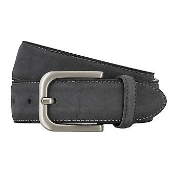 BRAX belts men's belts leather belt suede grey 4686