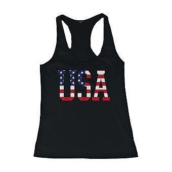 Schwarze Damen Tank-Top - amerikanische Flagge USA Design Tanktop