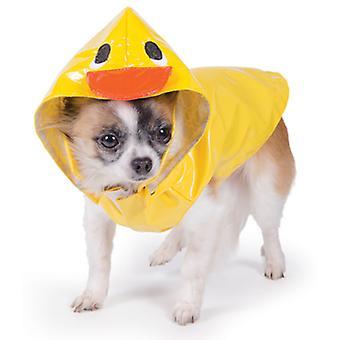 Mordisco pequeño pato Mac con capucha amarillo Extra pequeño