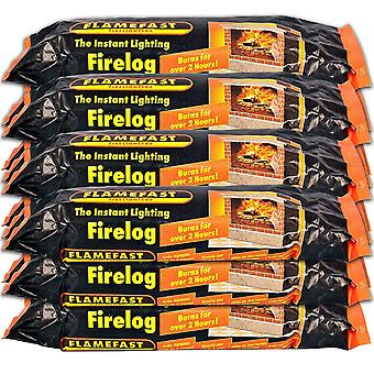 FlameFast The Instant Lighting Firelog  (Pack of 12)