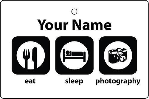 Personalised Eat Sleep Photography Car Air Freshener