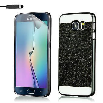 Glitter fodral för Samsung Galaxy S6 SM-G920 + penna - svart