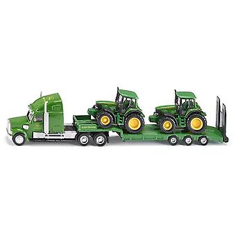 Siku Low Loader With John Deere Tractors