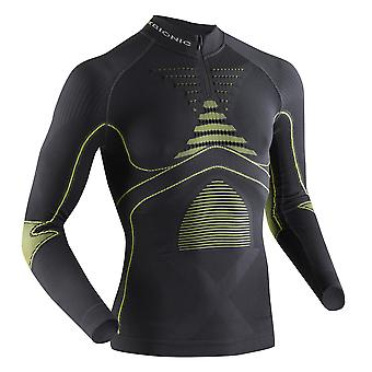 X-Bionic men energy accumulator Evo turtle neck zip long sleeve shirt - I020220-G099