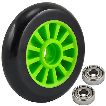 TRIXES SINGLE Green Nylon Core Scooter Wheel with Abec 9 Bearings Preinstalled
