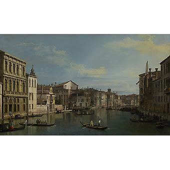 Canaletto - Grand Canal van Palazzo Flangini Poster Print Giclee