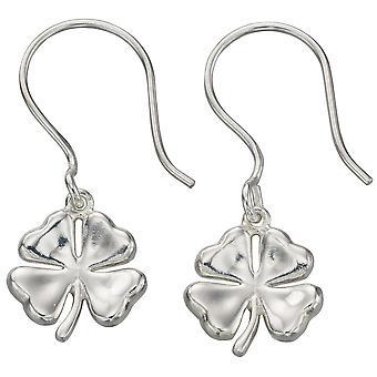 925 Silver Leaf Clover Four Earring