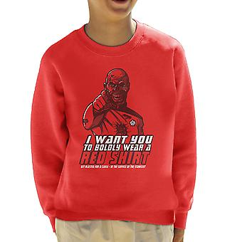 Red Shirt Zombie Star Trek Kid's Sweatshirt
