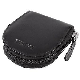 Dents Leather Coin Purse - Black