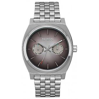 Nixon The Time Teller Duluxe Watch - Silver/Ombre